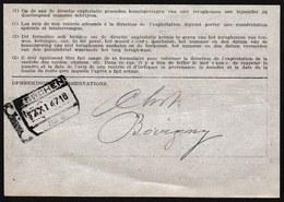 TRES RARE ! 1947 OBL. TRAIN GARE  * ESSCHEN * SUR AVIS DE NON RENTREE > ESSCHEN > BOVIGNY ? - STATION - VOIR VERSO - 1942-1951