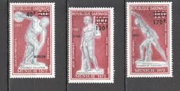 UU727 ONLY ONE IN STOCK OVERPRINT GABON OLYMPIC GAMES MUNICH 1972 MICHEL #489-91 1SET MNH - Verano 1972: Munich