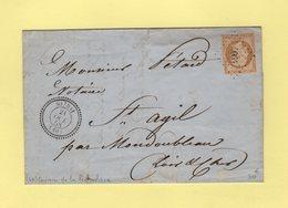 Souday - 40 - Loir Et Cher - Pc 4064 - 21 Oct 1858 - Marcophilie (Lettres)