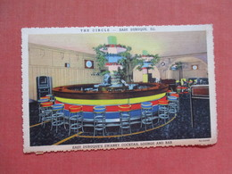 The Circle Bar-- As Is Out Of Album Paper Residue On Back  East Dubuque - Illinois  Ref 3775 - Sonstige