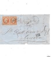 Devant De Lettre SALONIQUE TURQUIE 1864  FR N° 23X2 GC 5095 - Marcofilie (Brieven)