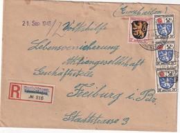 ALLEMAGNE 1946 ZONE FRANCAISE LETTRE RECOMMANDEE DE BURLADINGEN - Zona Francese