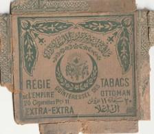 4130 Turquie Turkey Cigarette Box Regie De Tabacs De L'Empire Ottoman - Empty Tobacco Boxes
