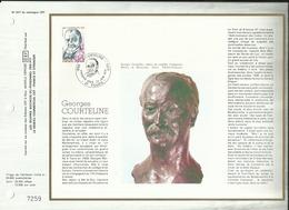 N° 507 DU CATALOGUE CEF . GEORGES COURTELINE . 23 JUIN 1979 . TOURS . - 1970-1979