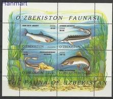 Uzbekistan 2006 Mi Bl 41 MNH ( ZS9 UZBbl41 ) - Fishes