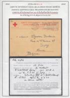 Belgique Stalag XIII A- Carte Information Situation Prisonnier- Comité Int. Croix Rouge-Genève.......  (VG) DC5257 - WW II