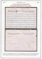 Belgique Stalag XIII A- Envois Non Réglamentaires. Ecriture à L'encre Ou Entre Les Lignes....  (VG) DC5266 - WW II