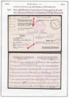 Belgique Stalag XIII A-Carte Postale Reponse Au Prisonnier. Franc De Port. Désignation Du Camp...  (VG) DC5268 - WW II