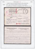 Belgique Stalag XIII A-Carte Postale Reponse Au Prisonnier-Allemagne-non Souligné.........  (VG) DC5270 - WW II