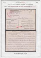 Belgique Stalag XIII A-Carte Postale Reponse Au Prisonnier-Adjonction De: Nr..........  (VG) DC5271 - WW II