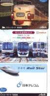 3 Carte Prépayée JAPON Différentes * CHEMIN DE FER (LOT TRAIN A-135) JAPAN * 3 TRAIN DIFFERENT PHONECARDS - Treni