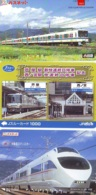 3 Carte Prépayée JAPON Différentes * CHEMIN DE FER (LOT TRAIN A-133) JAPAN * 3 TRAIN DIFFERENT PHONECARDS - Treni