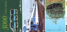 3 Carte Prépayée JAPON Différentes * CHEMIN DE FER (LOT TRAIN A-169) JAPAN * 3 TRAIN DIFFERENT PHONECARDS - Treni