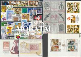 [20] 1990 Espagne Année Complete Neuf Sans Charniere LUXE   + 3 BF + 1 Carnet Timbres D'un Très Bon état. LUXE. - Espagne