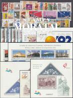 [20] 1992 Espagne Année Complete Neuf Sans Charniere LUXE   + 13 BF Timbres D'un Très Bon état. LUXE. - Espagne
