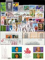 [20] 1991 Espagne Année Complete Neuf Sans Charniere LUXE   + 3 BF + 1 Carnet Timbres D'un Très Bon état. LUXE. - Espagne