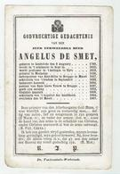 E.HEER Angelus De Smet - Lendelede 1793 - 1867 - Prof. College Ieper -  Priester Mechelen - Pastoor Brugge - Devotieprenten