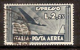(Fb).Regno.V.E.III.1933.Espresso Aereo.-2,25 Lire Usato,fresco E Ben Centrato (459-16) - Posta Aerea