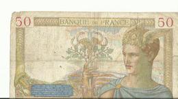 BILLET DE 50 FRANCS 1936 - 1871-1952 Anciens Francs Circulés Au XXème