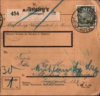 ! 1933 Paketkarte Deutsches Reich, Altenburg In Thüringen, Mylau - Briefe U. Dokumente