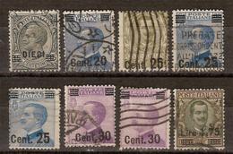 (Fb).Regno.V.E.III.1924-25.Soprastampati.Serie 8 Val Usati (112-19) - 1900-44 Victor Emmanuel III.
