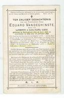 E. H. Eduard VANDEGHINSTE - Rolleghem 1815 - Gits 1898 - Prof Rousselare - Moescroen - Waasten - Cotemarck - Gits - Devotieprenten