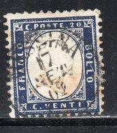 Rox 1862 Regno D'Italia 20c Usato - Oblitérés