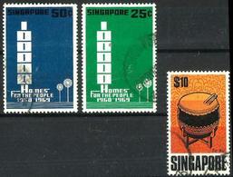 Singapur Nº 95/6-107º En Usado. Valor Catálogo 17€ - Singapore (1959-...)