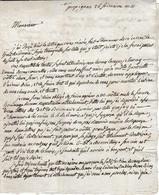 Frimaire An 10 - Perpignan - L.A.S. à Eléonor CASTELLANE à Paris - Signée DIEGO - Historische Documenten