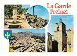 83 - La Garde Freinet - Multivues Avec Blason: Un Village Des Maures - Ed. Cim Combier - La Garde Freinet