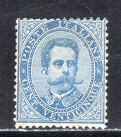 Rox 1879 Regno D'Italia Umberto I 25c MH* Nuovo Con Gomma E Linguella - 1861-78 Vittorio Emanuele II
