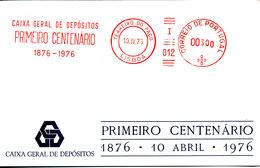 Portugal Card With Meter Cancel Terreiro Do Paco Lisboa 10-4-1976 - 1910-... Republic