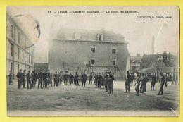 * Lille - Rijsel (Dép 59 - Nord - France) * (Phototypie A. Touly, Nr 11) Caserne Souham, Cour Cantines, Soldat, Armée - Lille