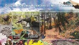 Turkey 2015 National Park Flora Fauna Butterflies Bird Frog Lizard SS MNH - Butterflies
