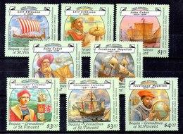 San Vicente De Granadinas Serie Completa Año 1988 **  BARCOS (SHIPS) - St.Vincent Y Las Granadinas
