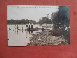 RPPC Wading & Swimming At Assembly Park  Tully NY  As Is Out Of Album , Paper Residue On Back >  . Ref 3777 - Sonstige