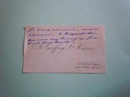 Carte De Visite Autographe A. GEOFFROY SAINT HILAIRE - Autographs