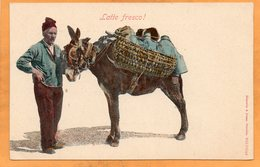 Types Napoli Italy 1905 Postcard - Napoli (Naples)