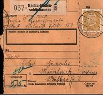 ! 1935 Paketkarte Deutsches Reich, Berlin Hohenschönhausen - Briefe U. Dokumente