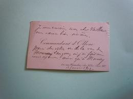 Carte De Visite Autographe COMMANDANT D'OLLONE (1868-1945) EXPLORATEUR 1912 - Autographs