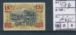 BELGIAN CONGO 1921 VARIETY COB 87A MNH - Congo Belga