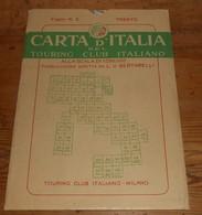 Carta D'italia Del Touring Club Italiano. Foglio 5. Trento. 1951. - Autres