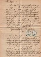 Oesterreich / 1872 / Stempelmarke 50 Kr. 2x Auf Dokument (2 Seiten) (2736) - Covers & Documents