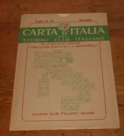 Carta D'italia Del Touring Club Italiano. Foglio 10. Milano. 1951. - Autres