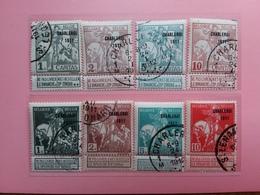 BELGIO - Expo Charleroi 1911 - Nn. 100/107 Timbrati + Spese Postali - 1910-1911 Caritas