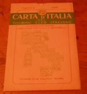 Carta D'italia Del Touring Club Italiano. Foglio 8. Susa. 1951. - Autres