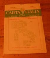 Carta D'italia Del Touring Club Italiano. Foglio 3. Como. 1952. - Autres