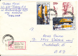 Poland Registered Cover Sent To Germany 8-7-1982 Topic Stamps - Covers & Documents