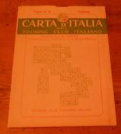 Carta D'italia Del Touring Club Italiano. Foglio 9. Torino. 1949. - Autres
