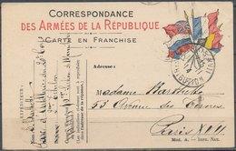 FRANCE - 1914, Correspodance Des Armées - Guerres